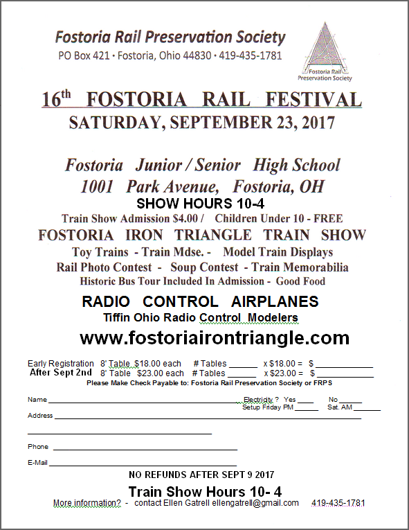 soup train fostoria area events train city usa